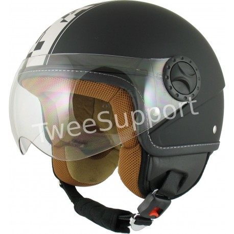 HELM AWAX FASHION MAT ZWART S
